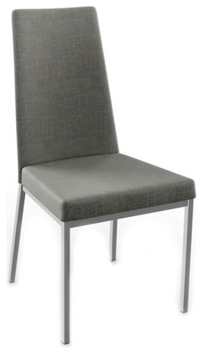 Contemporary Sleek Dining Chair Set Of 2 Transitional Chairs