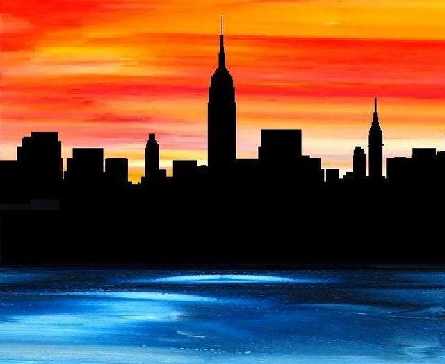 Modern New York City Skyline Artwork Modern Artwork