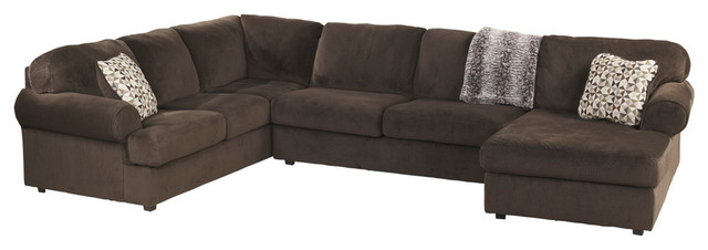 Phenomenal Signature Design By Ashley Jessa Place Sectional Chocolate Fabric Alphanode Cool Chair Designs And Ideas Alphanodeonline