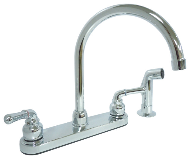 Kissler Dominion Kitchen Faucet With Spray Chrome Plated View In Your Room Houzz
