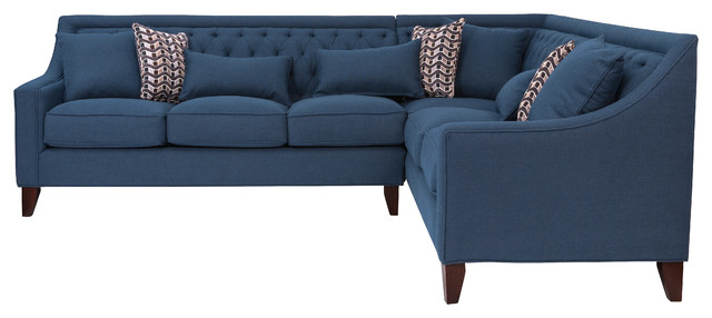 Awesome Aberdeen Navy Linen Right Sectional Sofa Pdpeps Interior Chair Design Pdpepsorg
