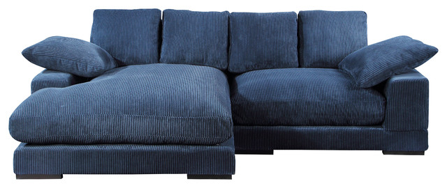 Plunge Sectional Navy Blue.