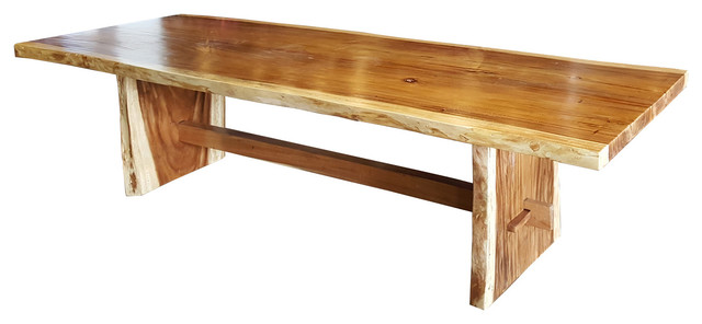 Suar Slab Dining Table Rustic Dining Tables by Chic Teak