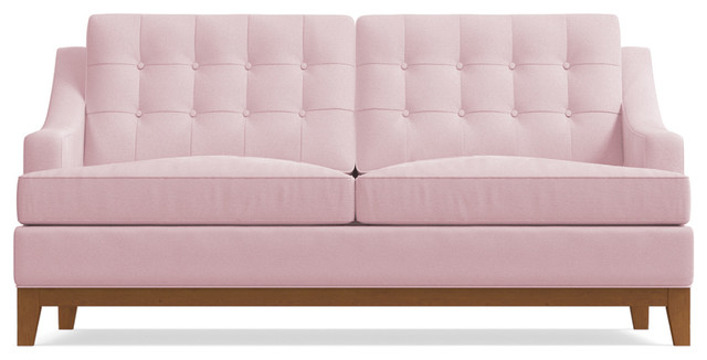 Awesome Bannister Apartment Size Sofa Blush Velvet 60X41X34 Evergreenethics Interior Chair Design Evergreenethicsorg