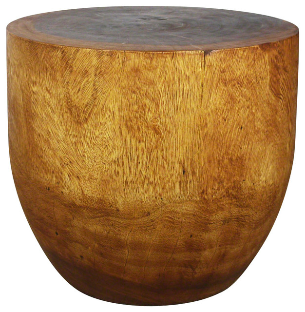 Sustainable Wood Oval Drum Table Side Tables And End