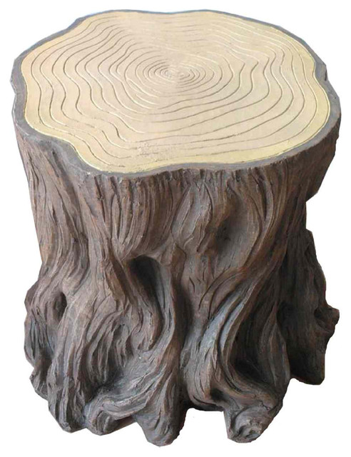 Woodland Tree Stump Stools Set Of 2 Rustic Accent And