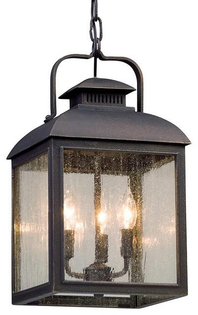Troy Chamberlain 3-Light Hanger Lantern, Vintage Bronze, Medium.