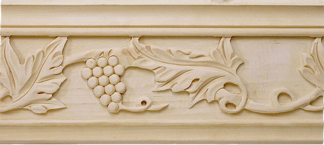 Sonoma Carved Crown Molding, Bass Wood