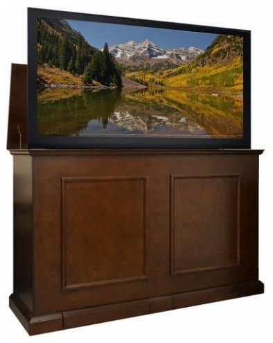 """Grand Elevate Anyroom Lift Cabinet For 60"""" Flat Screen Tv, Espresso."""