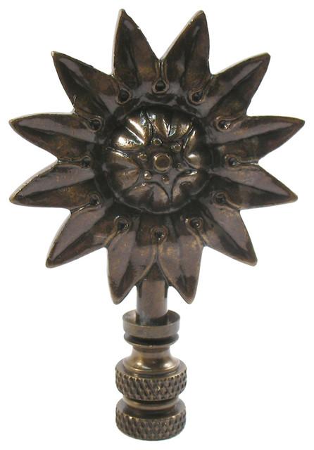 "3"" Sunflower Lamp Finial."