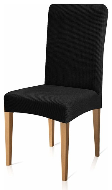 Wondrous Subrtex Dining Chair Covers Knit Stretch Chair Slipcovers Elastic Seat Cover Bl Short Links Chair Design For Home Short Linksinfo