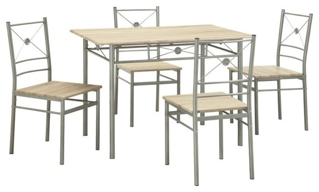 Coaster 5 Piece Dining Set Taupe Transitional Dining Sets By