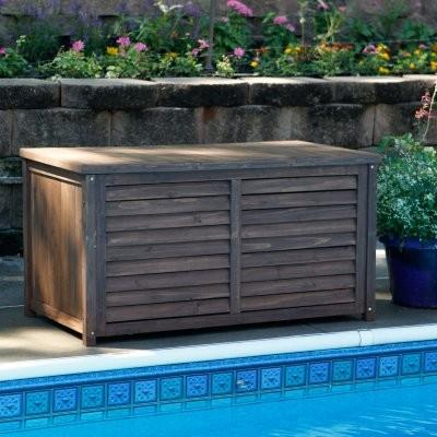 Charmant Coral Coast Outdoor Wood Deck Box   Dark Brown