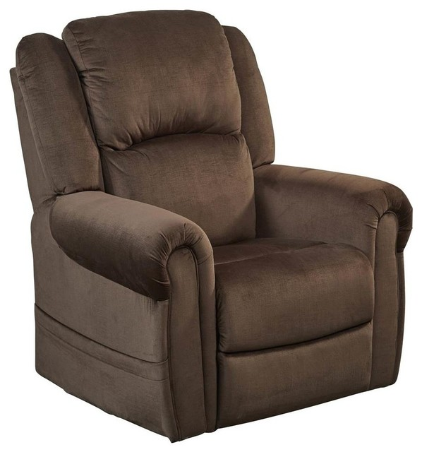 Power Lift Lay Flat Recliner in Chocolate by Catnapper