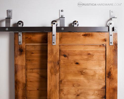Bypass barn door hardware standard modern barn door hardware - I Need 14 Foot Bypass Door Rails And Hardware For 3 Doors