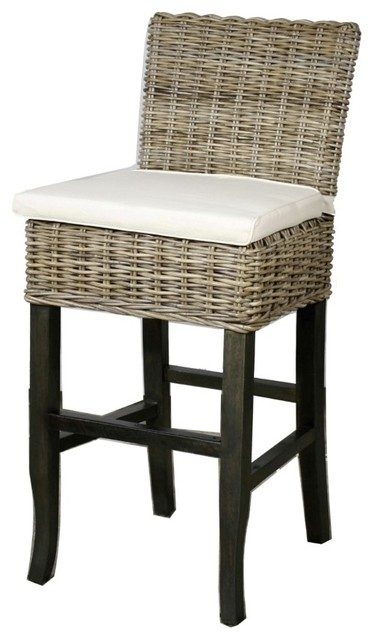 Bermuda Bar Stool Kubu Gray Tropical Bar Stools And