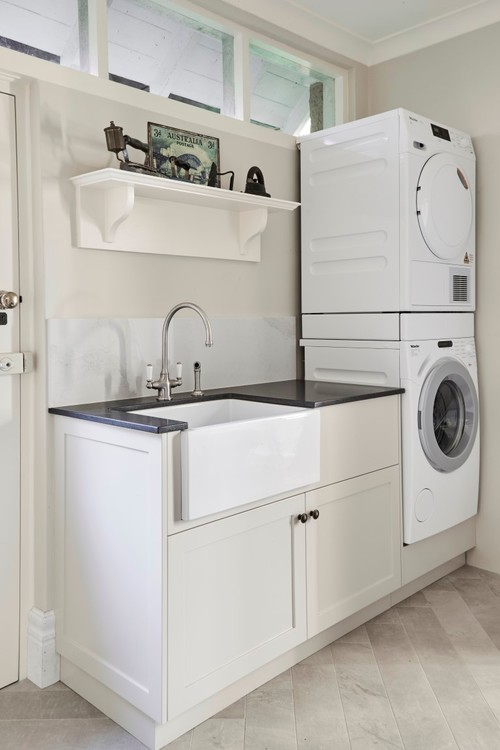 Clever Space Saving Tip Stack Bulky Laundry Machines On Top Of Each Other