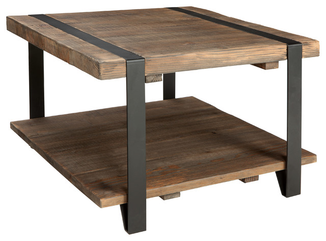 Modesto Coffee Table Rustic Natural Industrial Coffee Tables