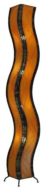 Wave Xl Floor Lamp Orange.