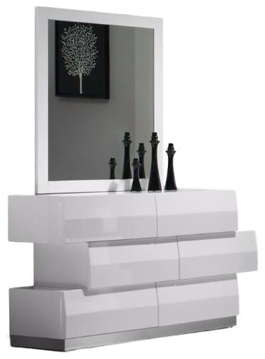 Milan Dresser & Mirror, White.