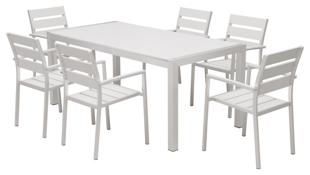 Outdoor Patio Furniture Aluminum Resin 14-Piece Dining Table and Chair Set