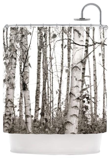 Monika Strigel Quot Birchwood Quot Gray Forest Shower Curtain
