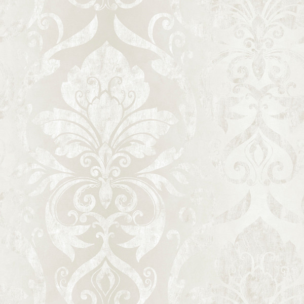 Lulu Ice Smiling Damask Wallpaper Bolt.