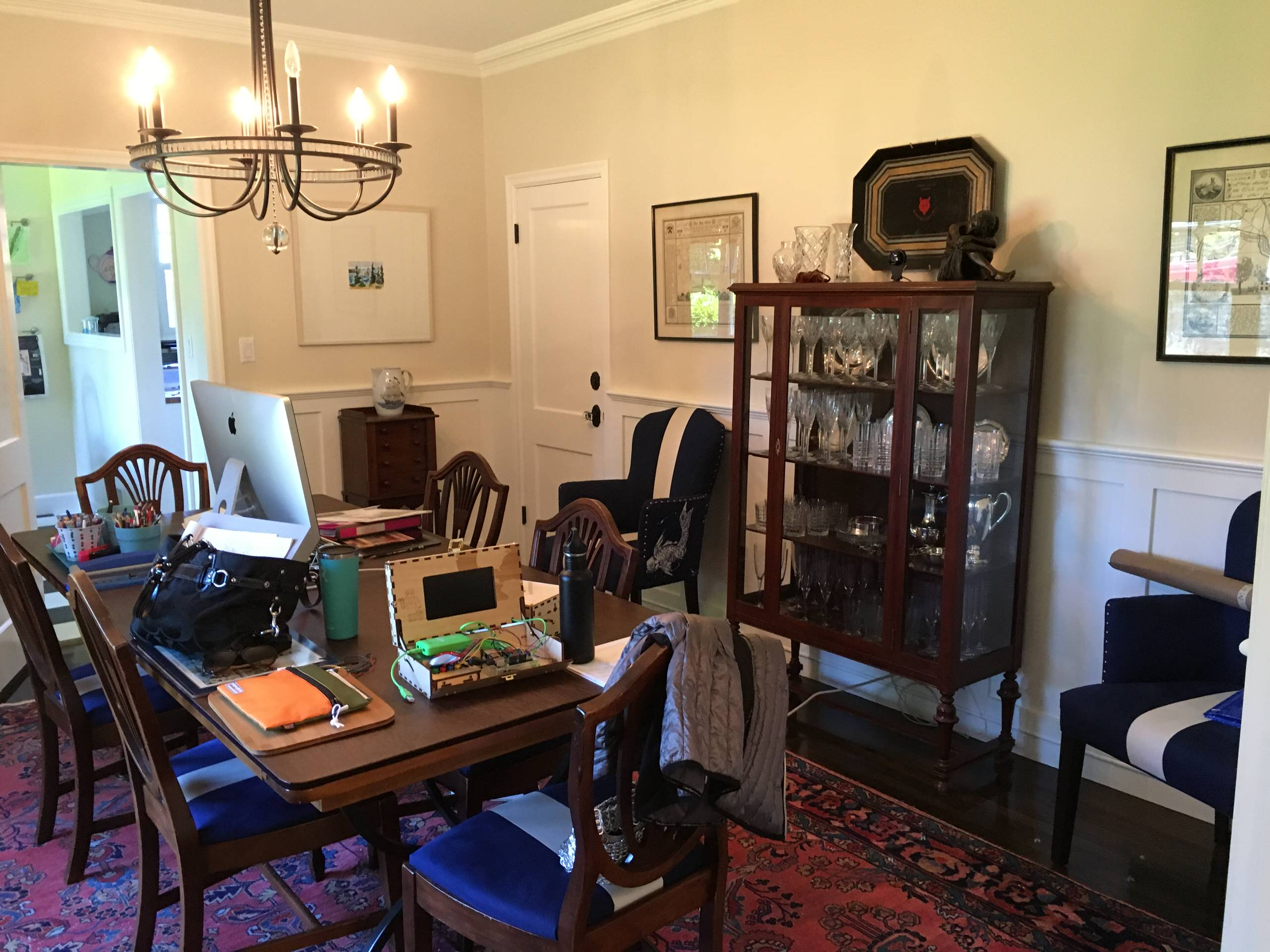 Colonial Revival - Dining rm, before