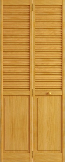 Stained Golden Oak Closet Door Bi Fold Kimberly Bay Louver