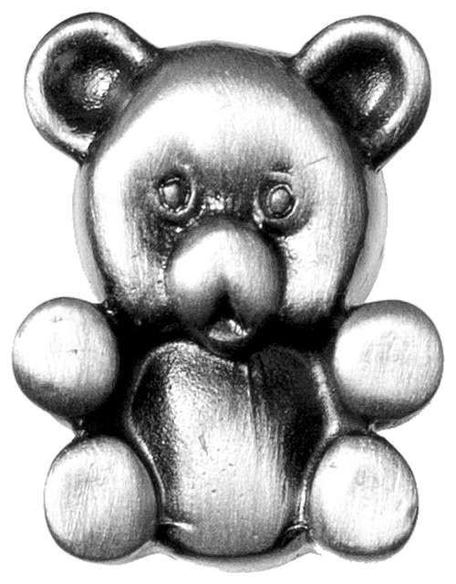 Teddy Bear Knob, Pewter - Cabinet And Drawer Knobs - by Sierra Lifestyles