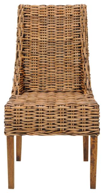 Safavieh Tristan Arm Chairs, Deep Honey, Set of 2