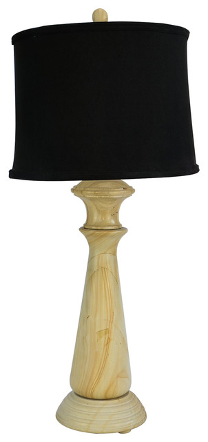 "32"" Tall Marble Table Lamp ""Tolesto"", Beige"