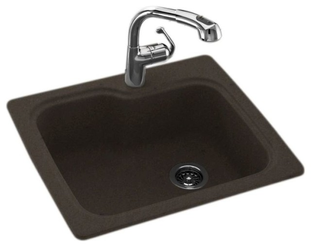 Swan 25x22x9 Solid Surface Kitchen Sink 1 Hole