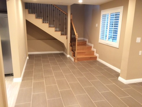 Wood Finish Elevation Tiles : What wood finish looks good with light gray ceramic floors