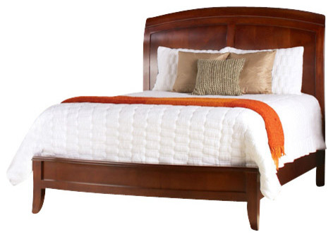 Modus Brighton 5 Piece Sleigh Bedroom Set In Cinnamon Traditional Bedroom Furniture Sets