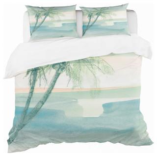 Designart /'Peaceful Dusk I Tropical/' Coastal Bedding Set Duvet Cover /& Shams