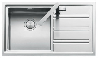 Abey EASY100R Barazza Easy Single Bowl Right Hand Drainer Sink