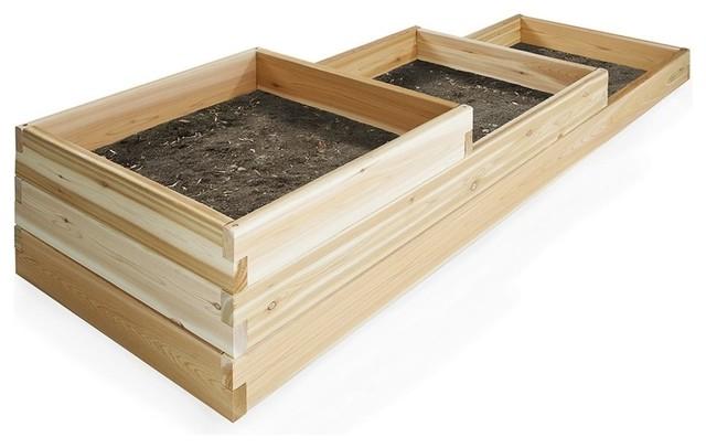 Bon Cedar Tiered Garden Box