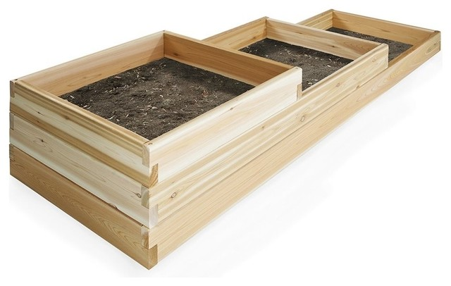 Delightful All Things Cedar 6u0027 Tiered Garden Box Transitional Outdoor Pots And