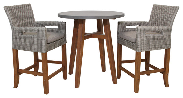 Pleasing 3 Piece Counter Height Composite With Light Gray Wicker Chairs Set Ibusinesslaw Wood Chair Design Ideas Ibusinesslaworg