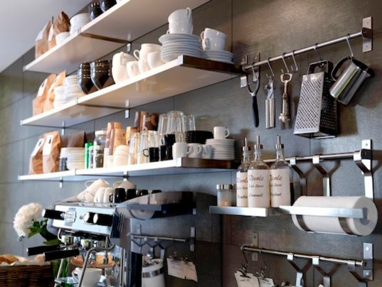 IKEA Kitchen Shelving . Modern