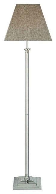 Westmoreland Floor Lamp, Satin Chrome.