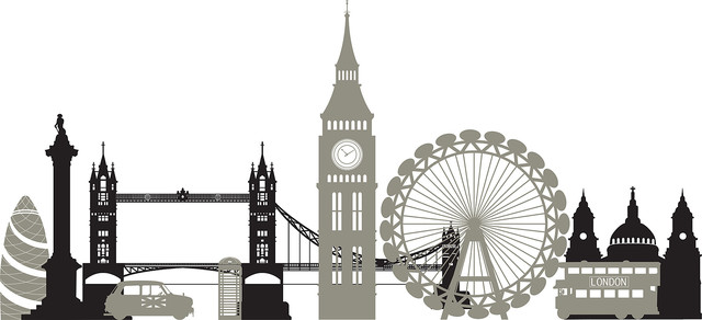 London calling wall art decal kit contemporary wall for London wall art