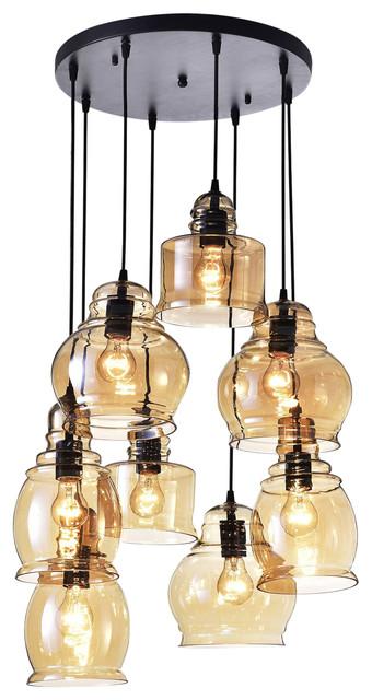 Achelous 8 light chandelier brownish black transitional chandeliers