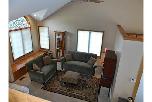 We Have A Split Level Home You Walk In The Front Door And Its This Formal Living Room That Goes Into Kitchen There Are Stairs Off To