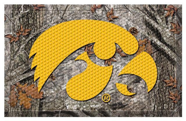 Fanmats Iowa Hawkeyes Camo Entry Floor Mat Doormats Houzz