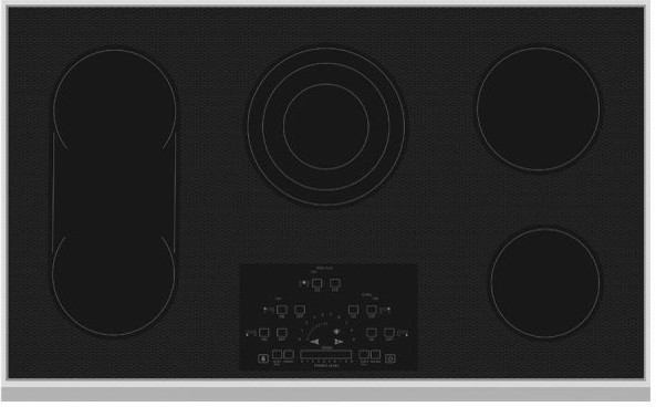 Hestan 36 Electric Smoothtop Cooktop, Stainless Steel.