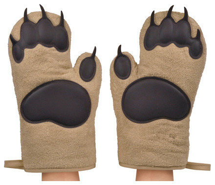 Bear Hands Oven Mitts, Set of 2