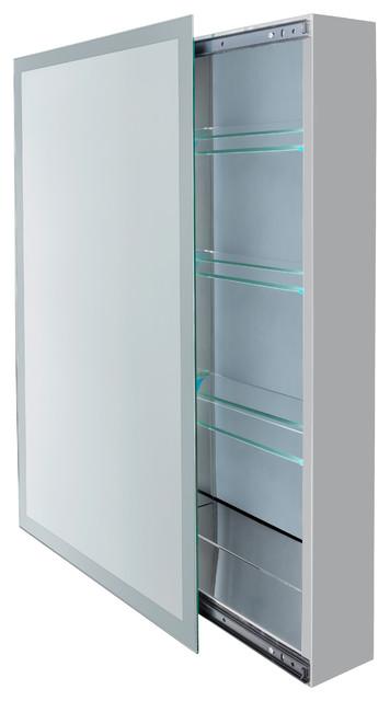 "Sliding Mirror Medicine Cabinet, 3 Glass Shelfs, 18""x30""."