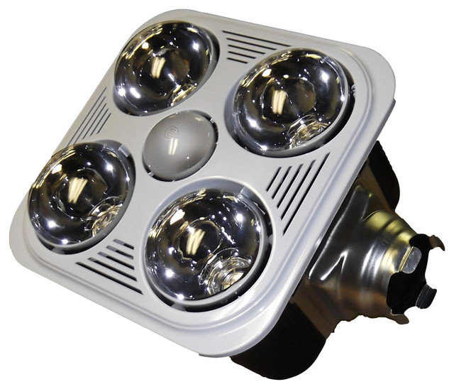 Aero Pure Fan A716rw 4 Bulb Quiet Bathroom Heater Fan With Light
